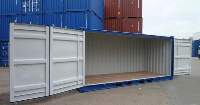 East Coast Commodities Side Opening Shipping Containers